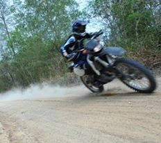 Riding my 200cc Yamaha Dirtbike