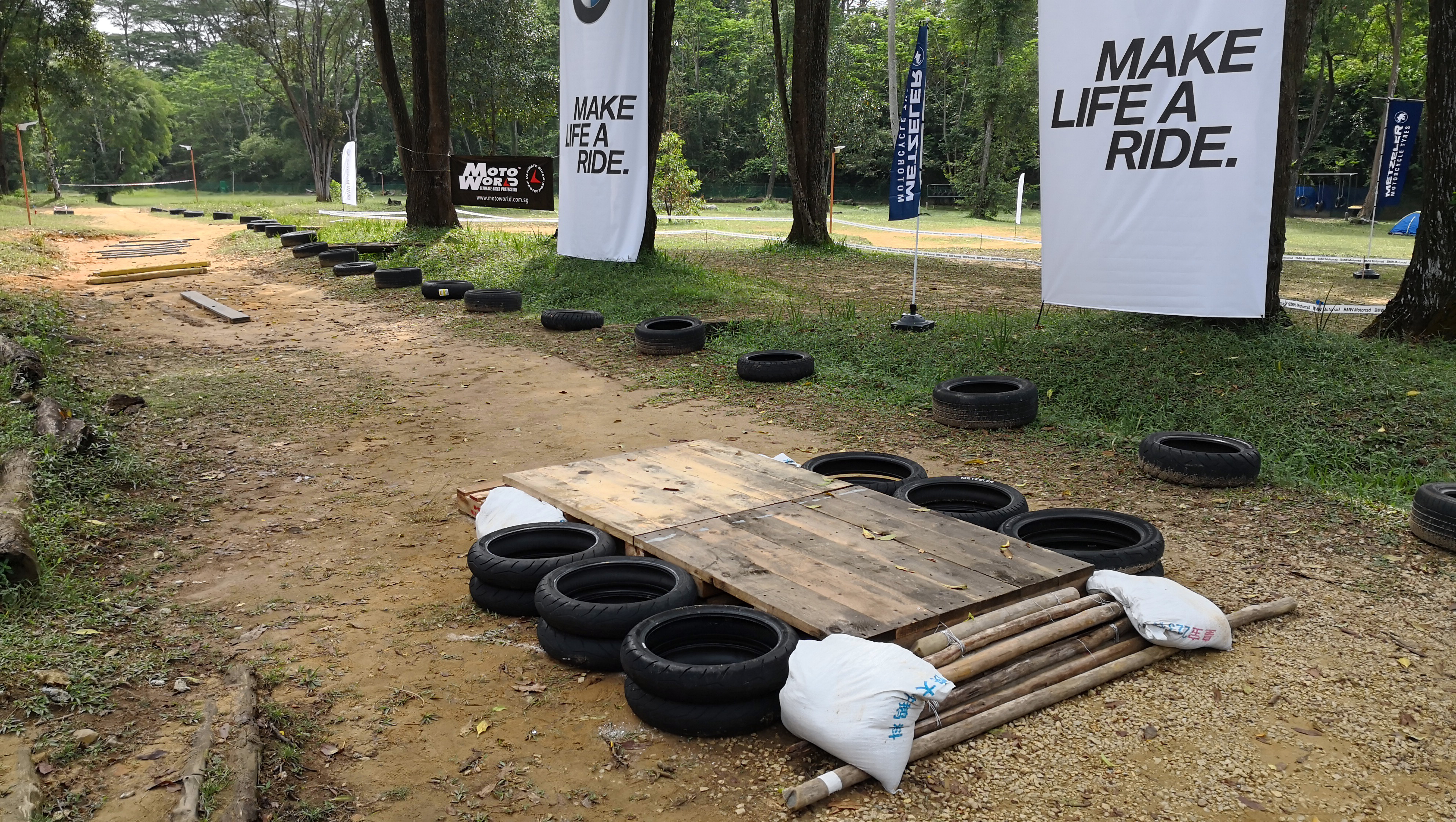 Man-made obstacles at the BMW G310GS Launch